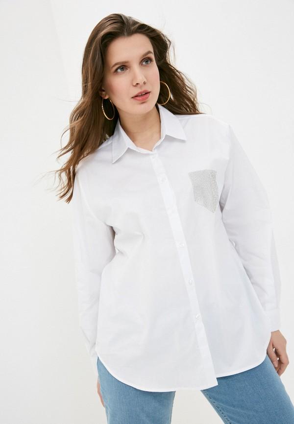 женская рубашка с длинным рукавом sophia, белая