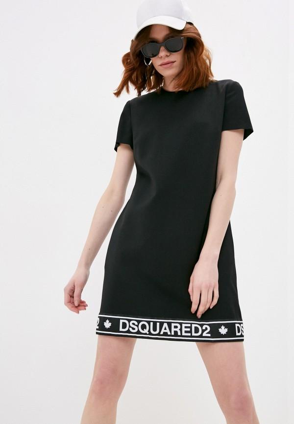 женское повседневные платье dsquared2, черное