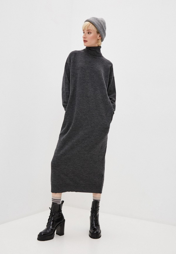 женское платье dsquared2, серое