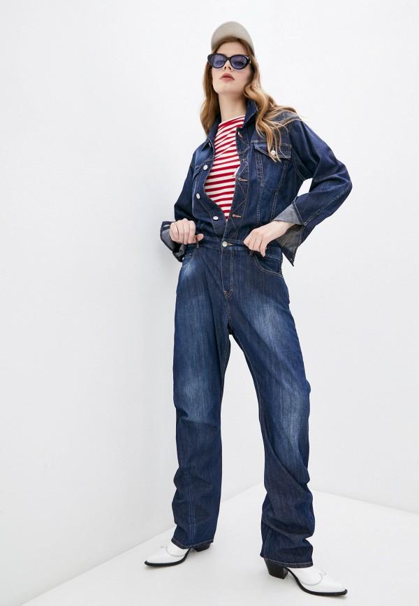женский джинсовые комбинезон dsquared2, синий