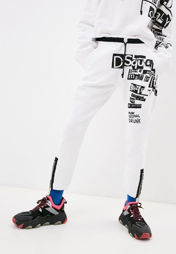 женские спортивные брюки dsquared2, белые
