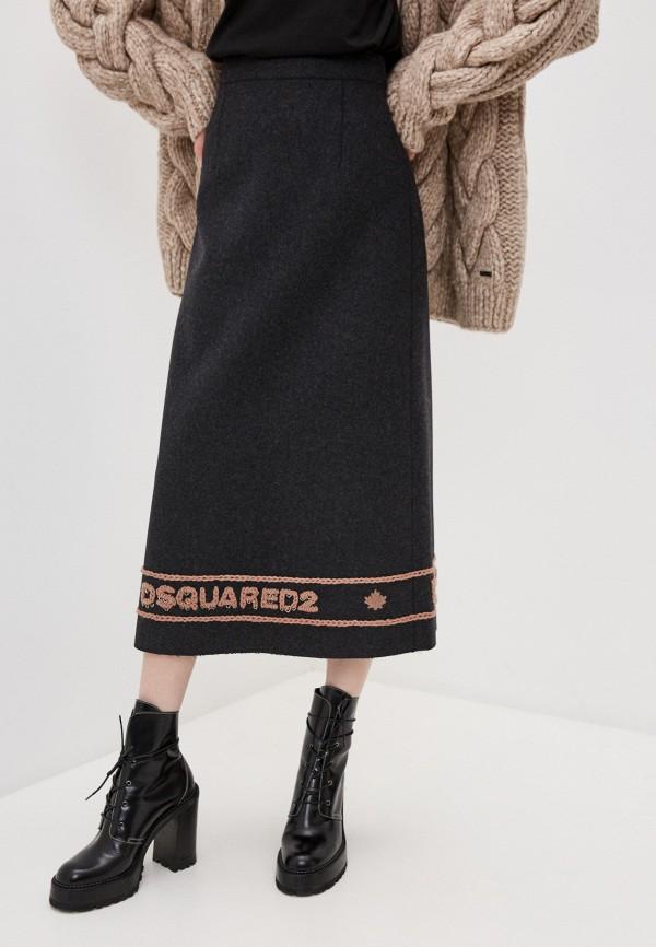 женская юбка dsquared2, серая