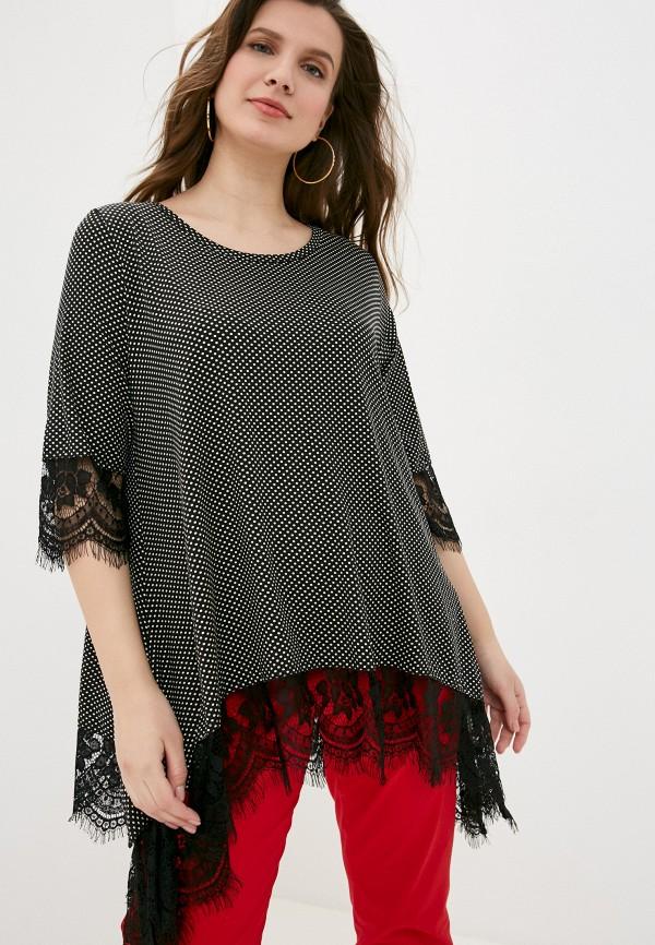 женская блузка sophia, черная