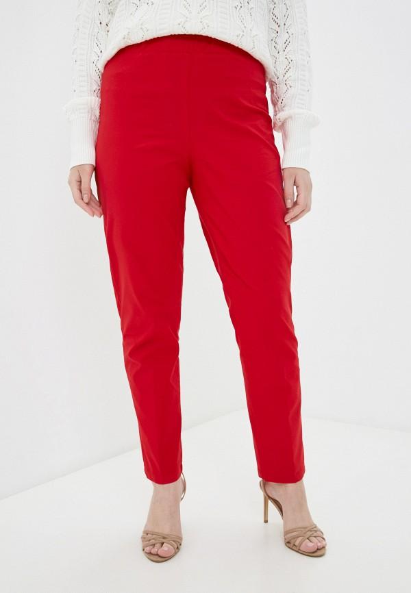 женские зауженные брюки sophia, красные