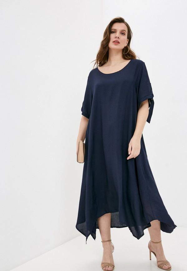 женское повседневные платье sophia, синее
