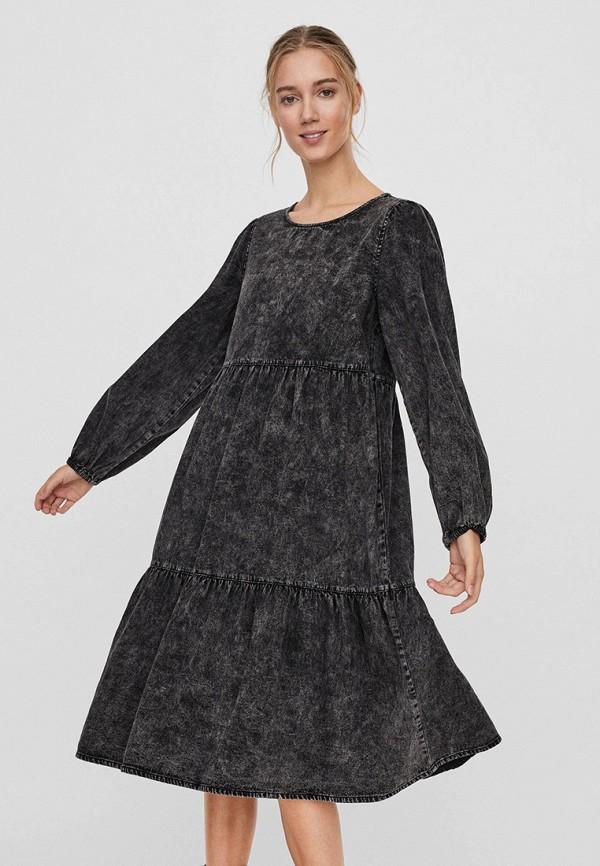 женское джинсовые платье vero moda, черное