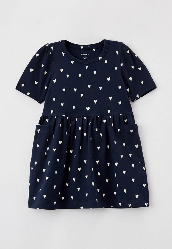 повседневные платье name it для девочки, синее