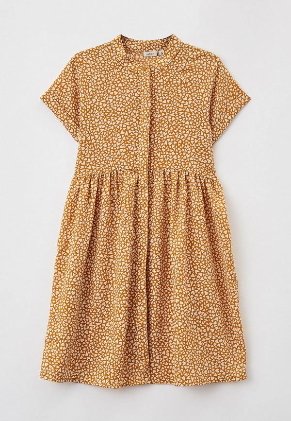 повседневные платье name it для девочки, коричневое