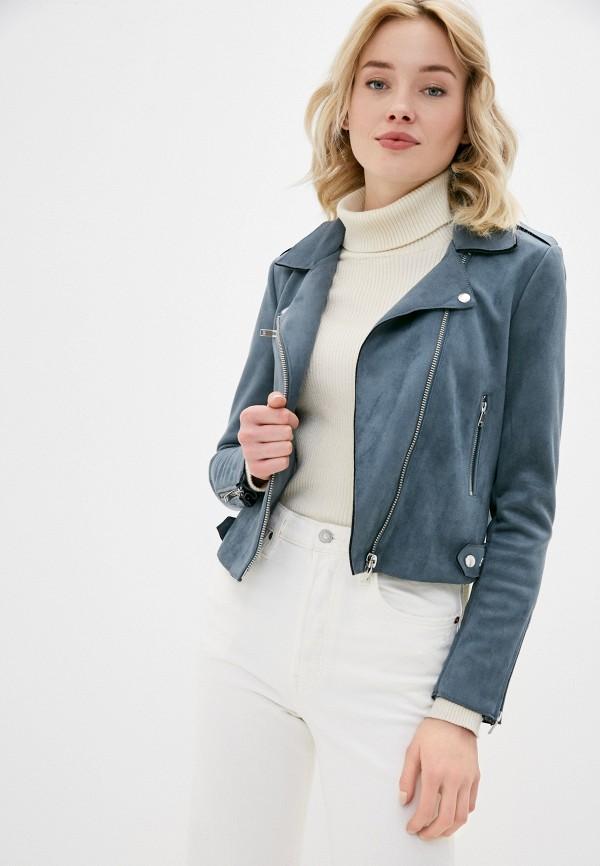 женская куртка косухи only, синяя