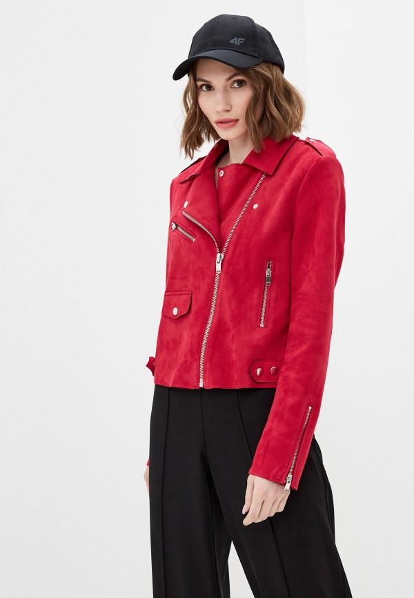 женская куртка косухи only, розовая