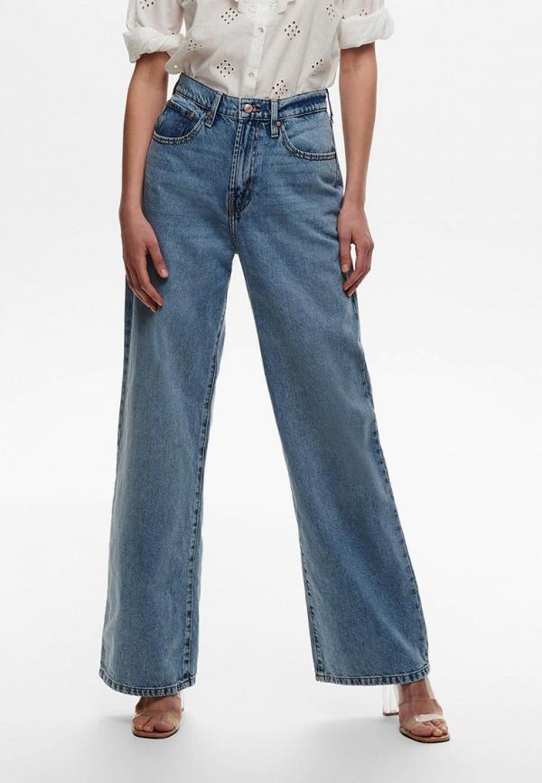 женские джинсы клеш only, голубые