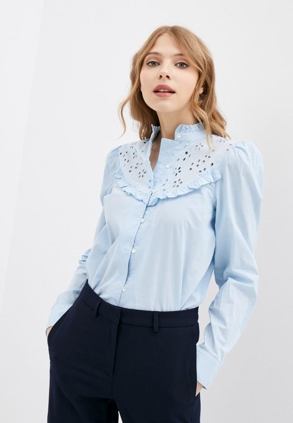 женская блузка only, голубая