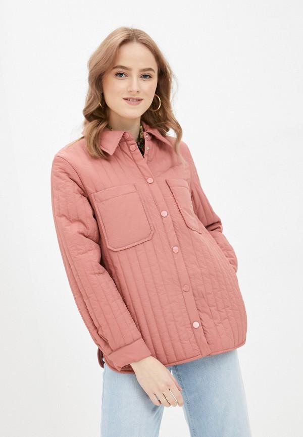 женская куртка pieces, розовая