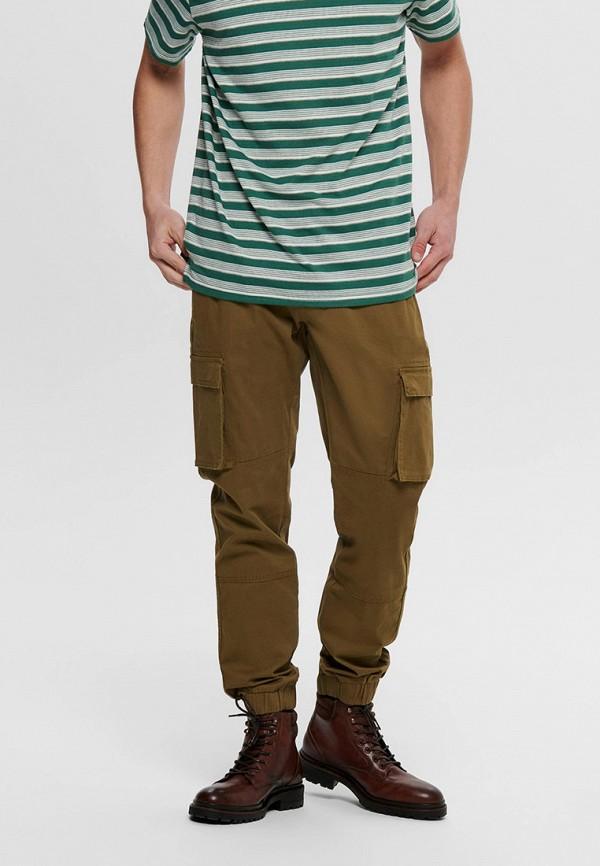 мужские брюки only & sons, коричневые
