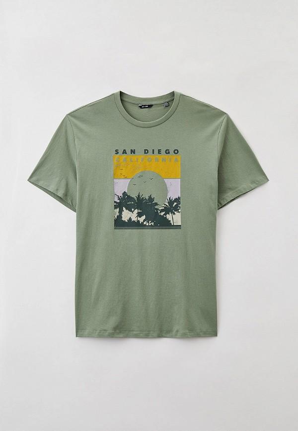 мужская футболка only & sons, зеленая