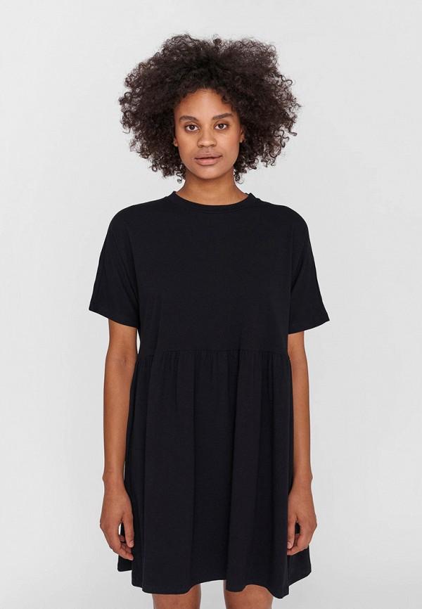 женское повседневные платье noisy may, черное