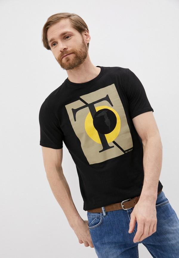 мужская футболка tru trussardi, черная