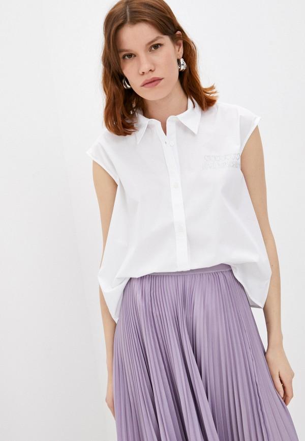 женская блузка love moschino, белая