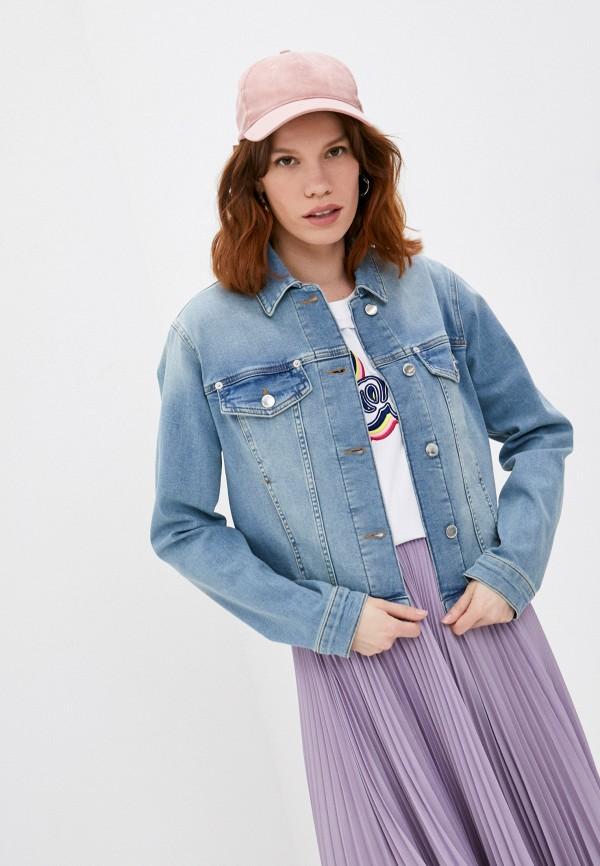 женская джинсовые куртка love moschino, голубая