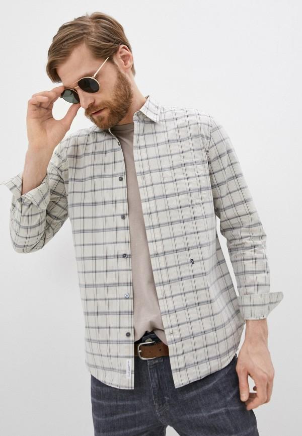 мужская рубашка с длинным рукавом closed, бежевая
