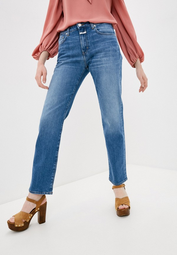 женские джинсы бойфренд closed, синие