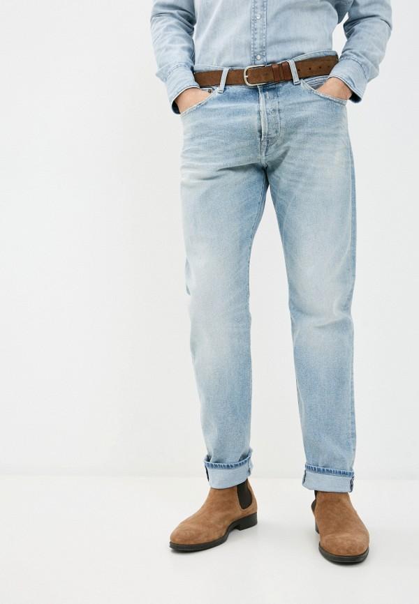 мужские зауженные джинсы replay, голубые