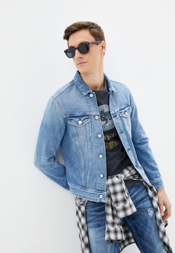 мужская джинсовые куртка replay, голубая