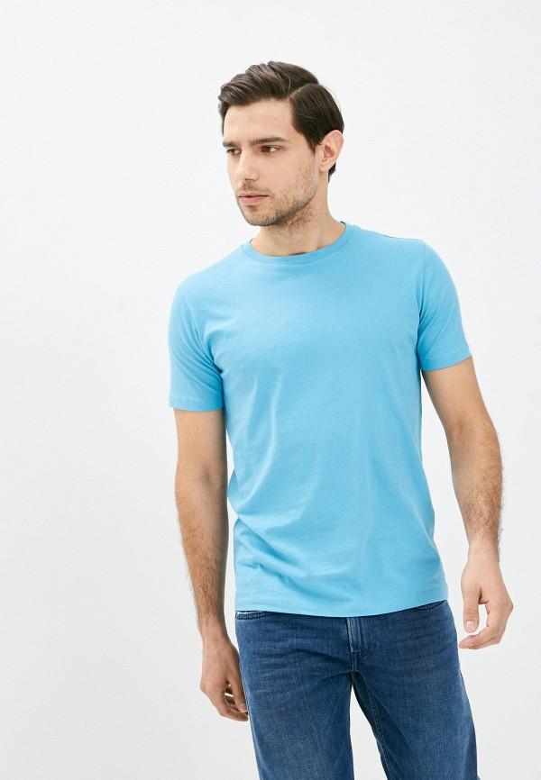мужская футболка с коротким рукавом replay, синяя