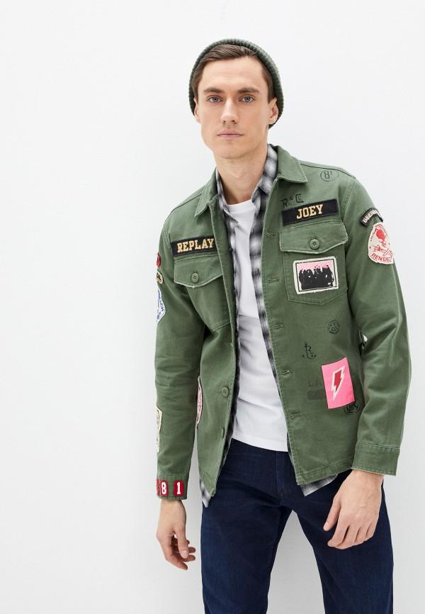 мужская куртка replay, хаки