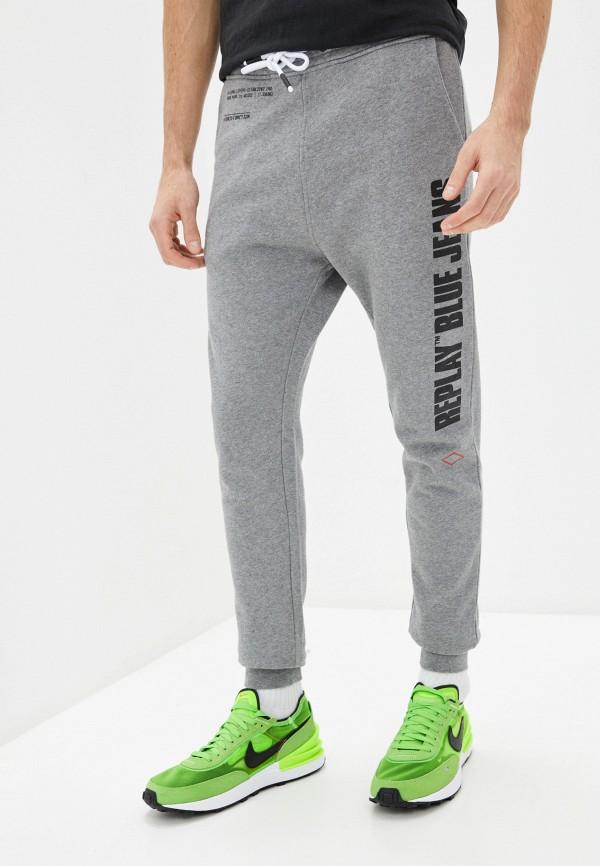 мужские спортивные брюки replay, серые