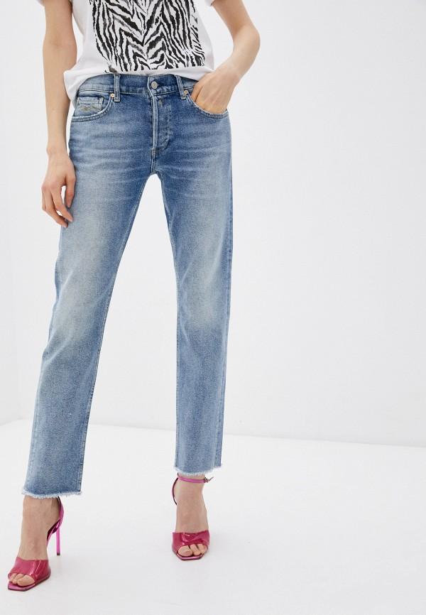 женские прямые джинсы replay, голубые