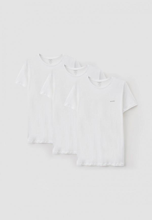 мужская футболка с коротким рукавом diesel, белая