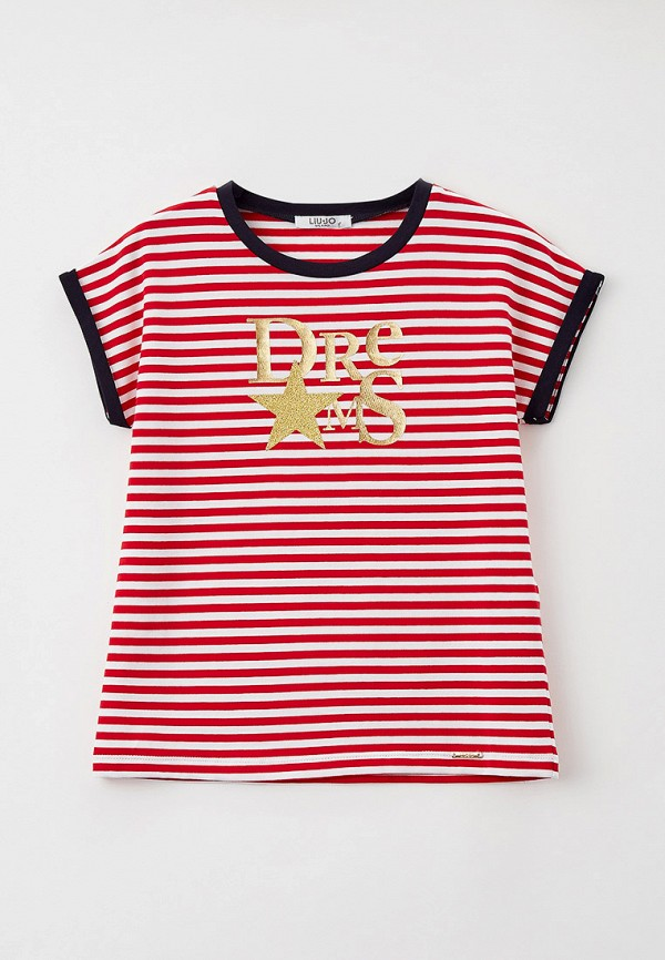 футболка с коротким рукавом liu jo junior для девочки, красная