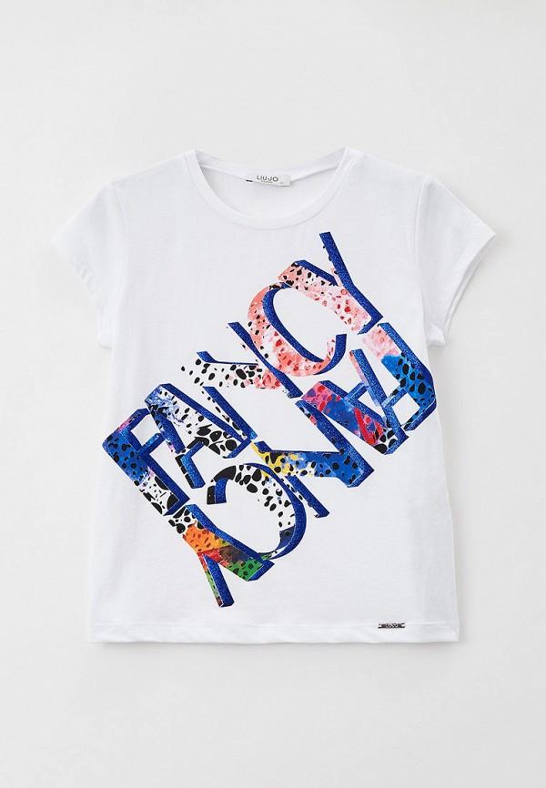 футболка с коротким рукавом liu jo junior для девочки, белая