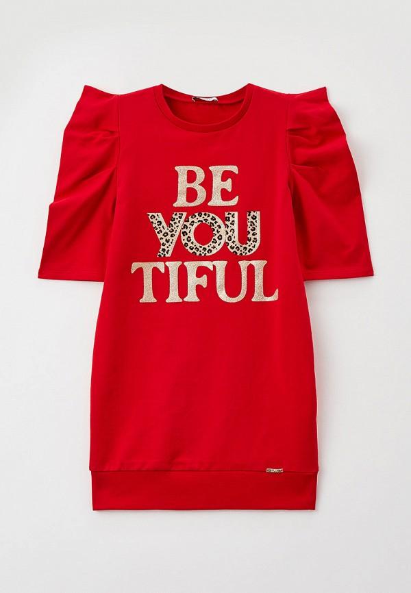 повседневные платье liu jo junior для девочки, красное