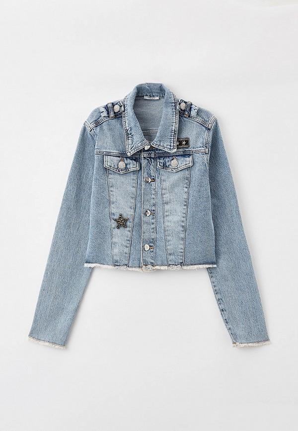 куртка liu jo junior для девочки, голубая