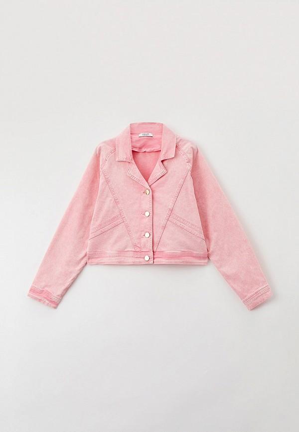 куртка liu jo junior для девочки, розовая