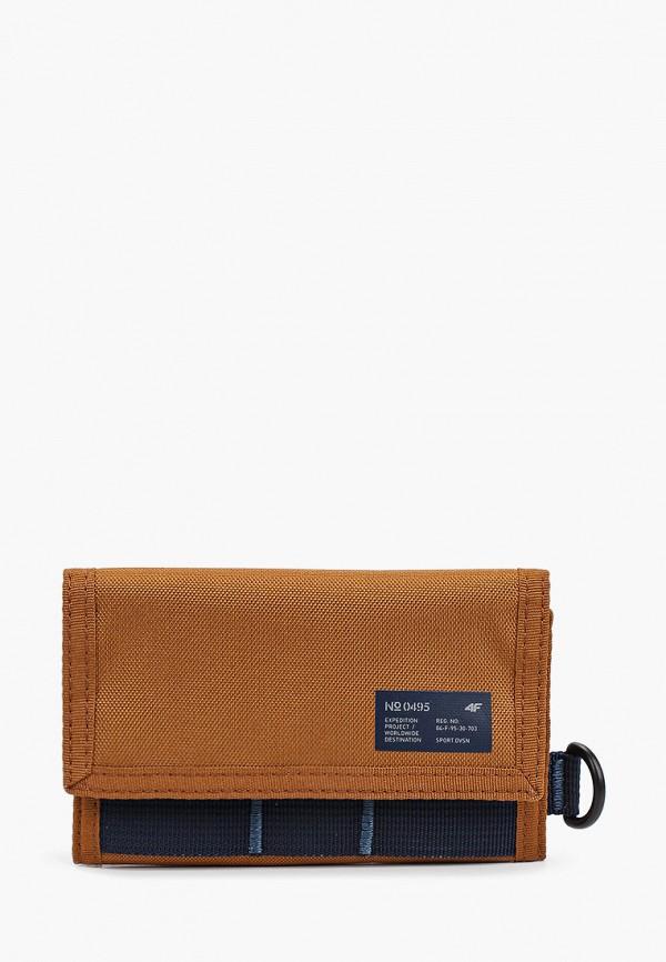 женский кошелёк 4f, коричневый