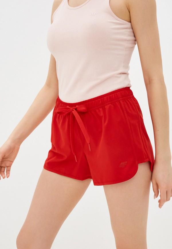 женские спортивные шорты 4f, красные
