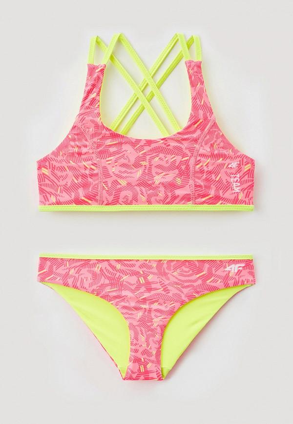 купальник 4f для девочки, розовый