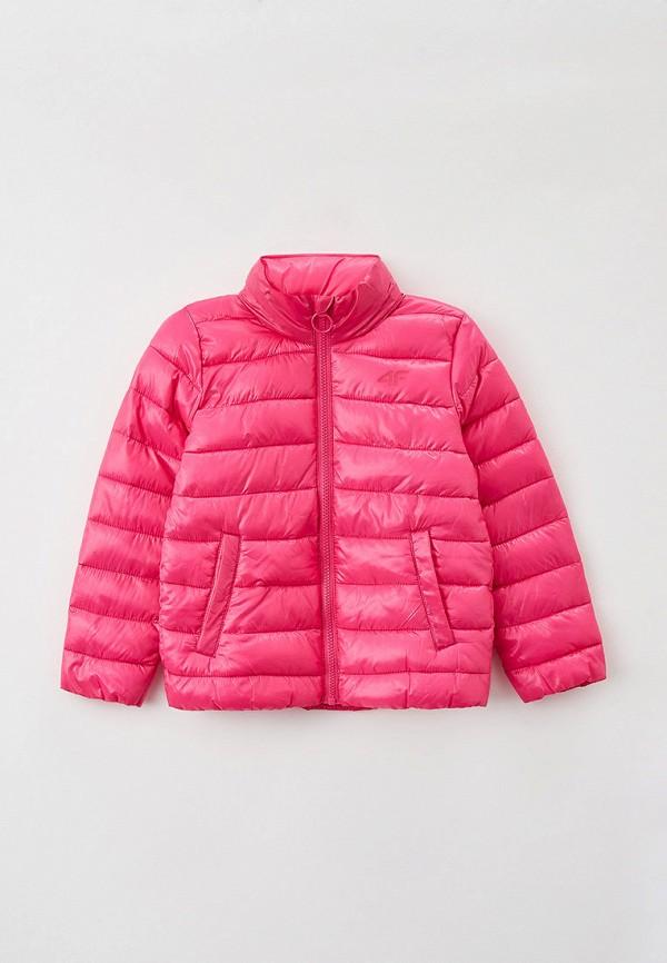 куртка 4f для девочки, розовая