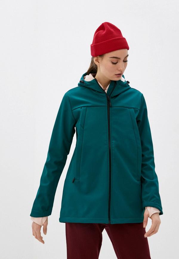 женская куртка outhorn, зеленая