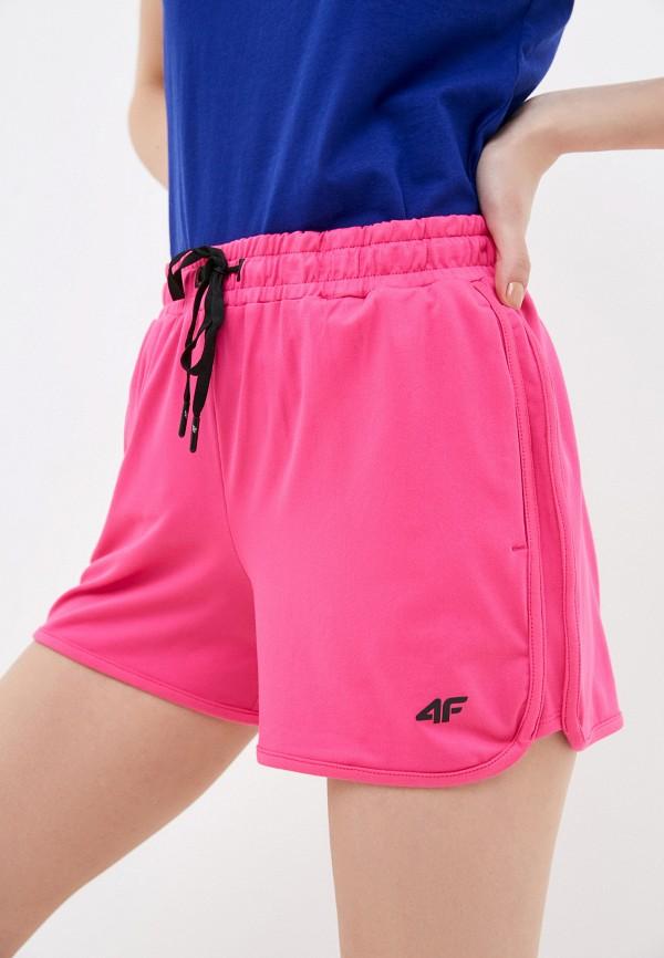 женские спортивные шорты 4f, розовые