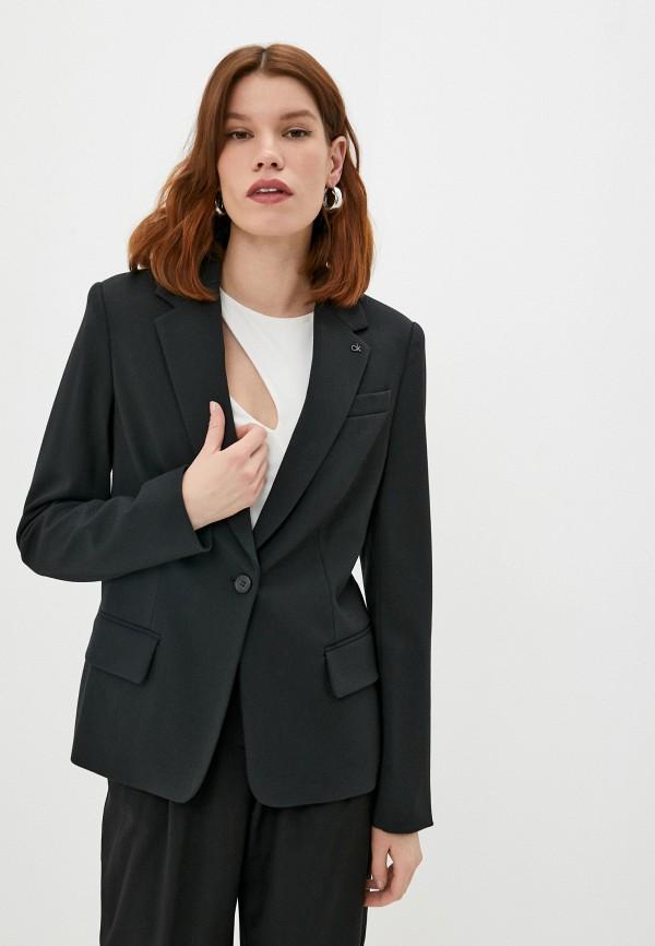 женский пиджак calvin klein, черный