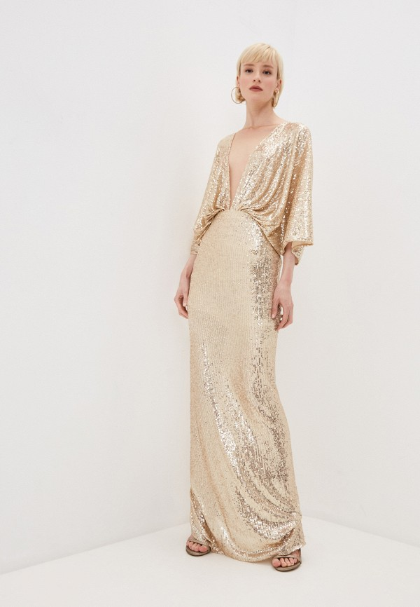 женское вечерние платье elisabetta franchi, золотое