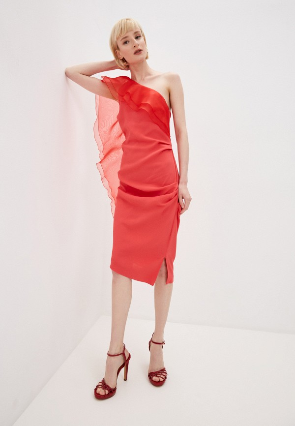 женское вечерние платье elisabetta franchi, красное