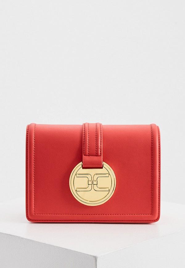 женская сумка elisabetta franchi, красная