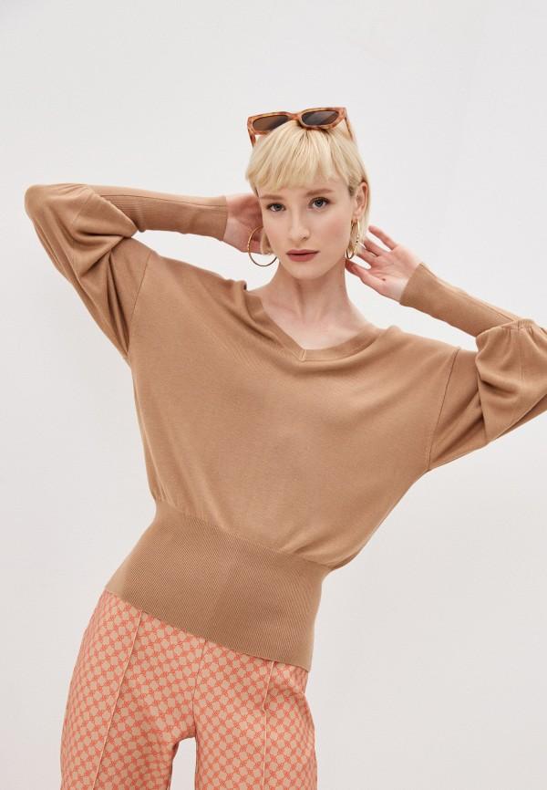 женский пуловер elisabetta franchi, бежевый