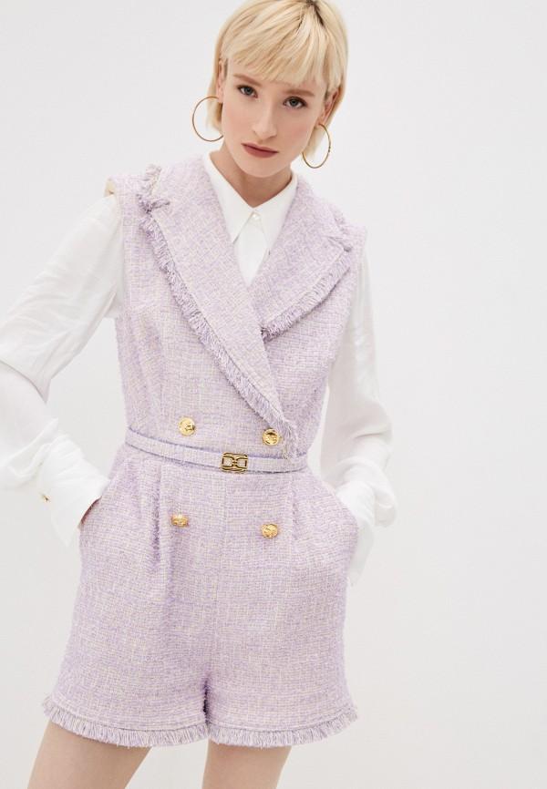 женский комбинезон elisabetta franchi, фиолетовый