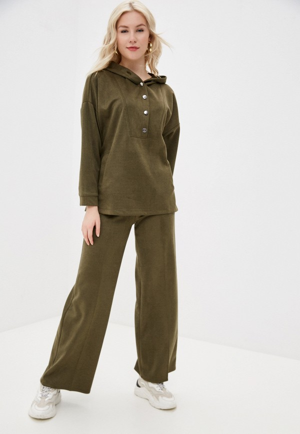 женский костюм moda sincera, хаки